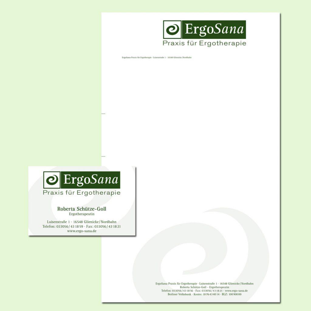 ErgoSana Corporate Design und Geschäftsausstattung