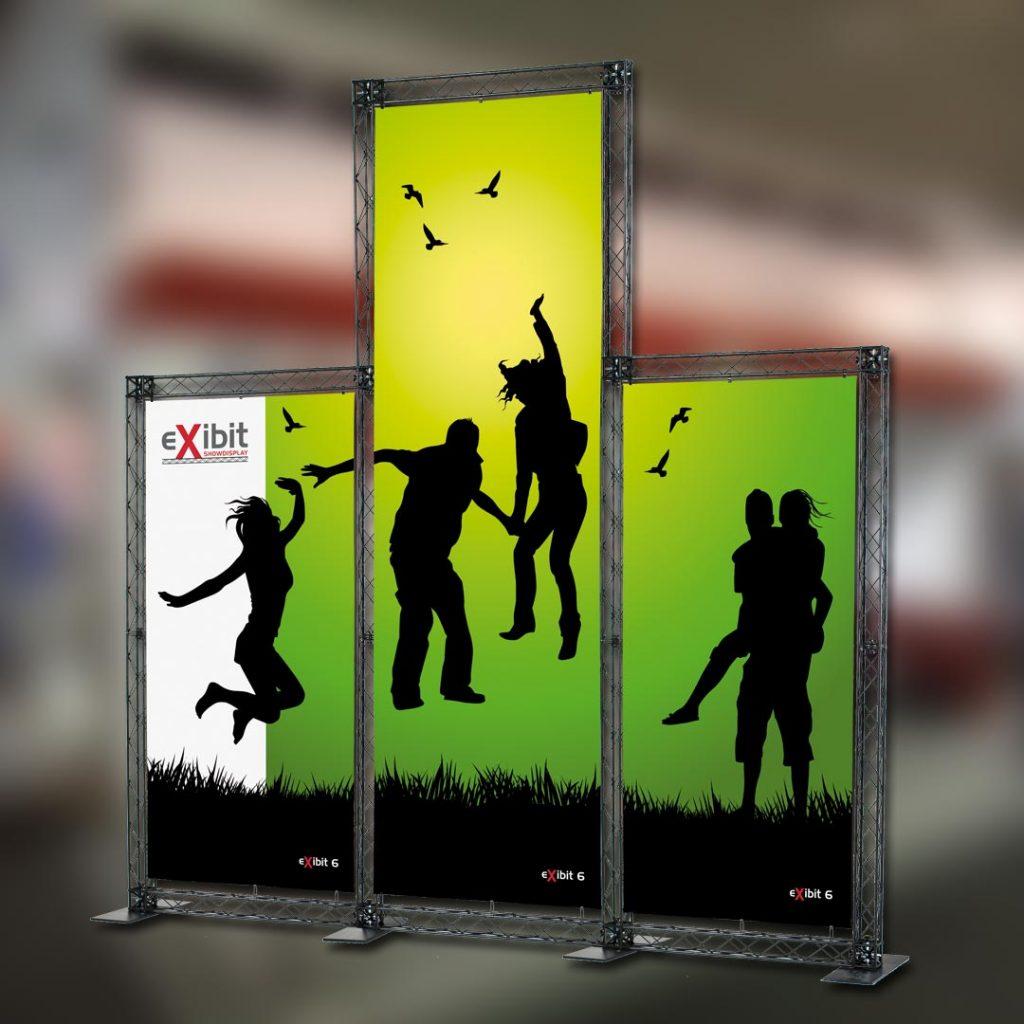 Eventausstattung Werbesysteme Bannergestell Expowand