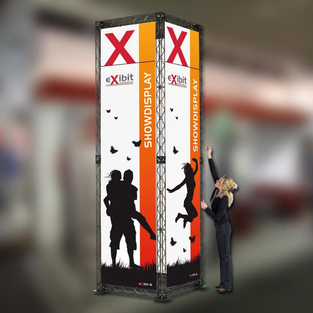 Eventausstattung Werbesysteme-Bannergestell Turm