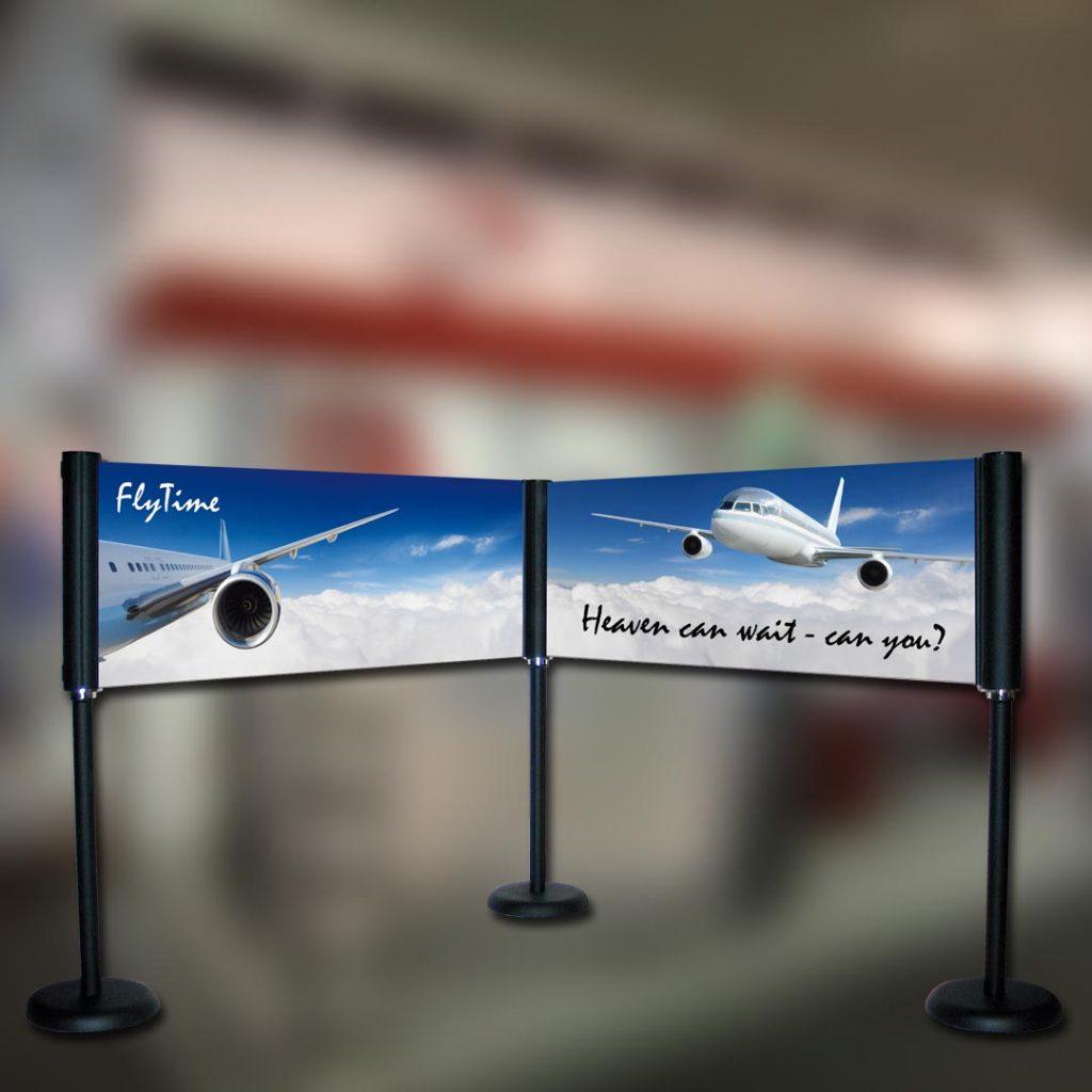 Eventausstattung Werbesysteme Barriere