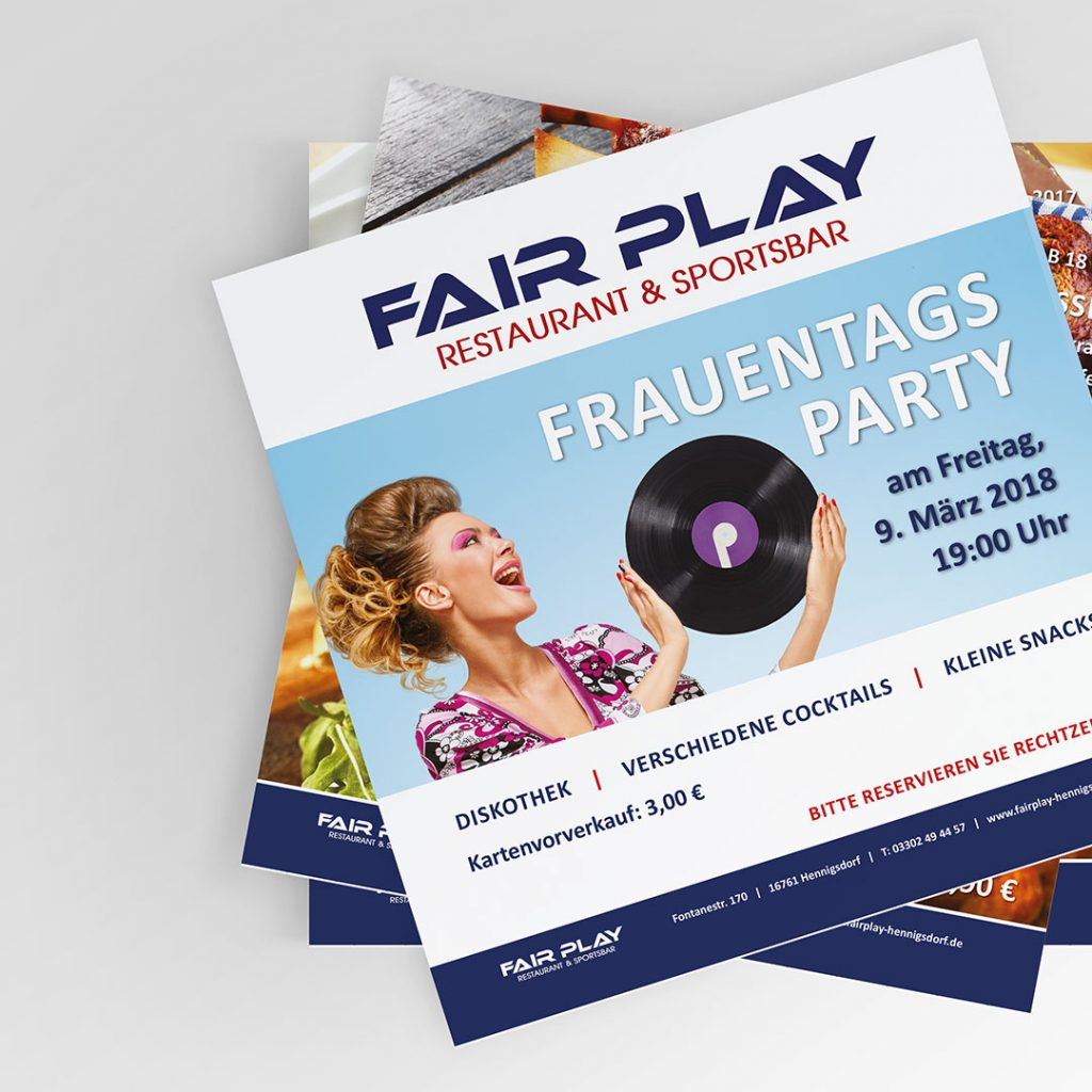 Fair Play Clubhaus Flyer