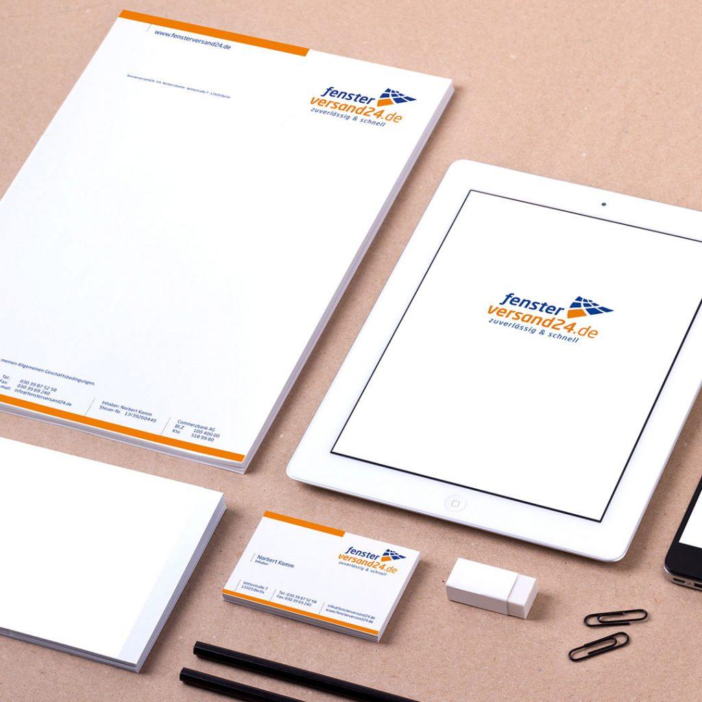 Fensterversand24 Corporate Design und Geschäftsausstattung