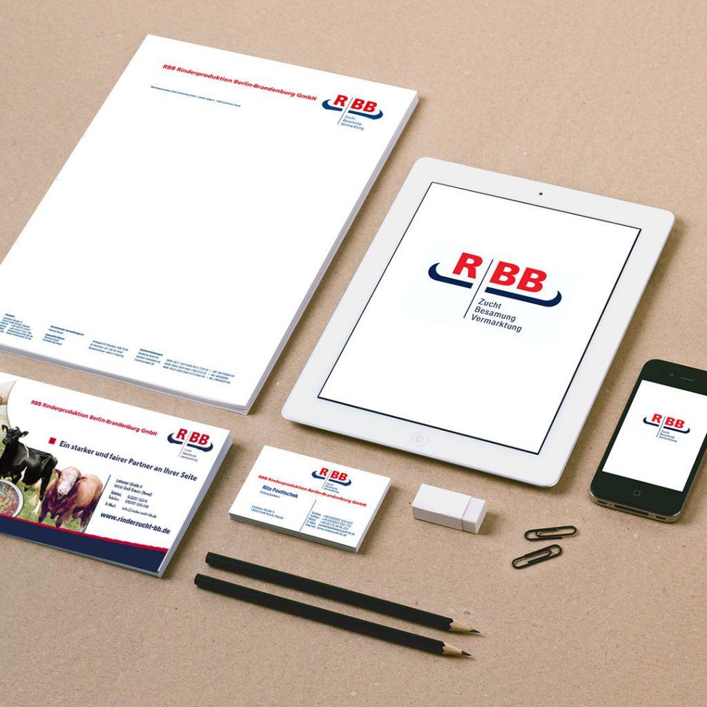 RBB Rinderproduktion Corporate Design und Geschäftsausstattung