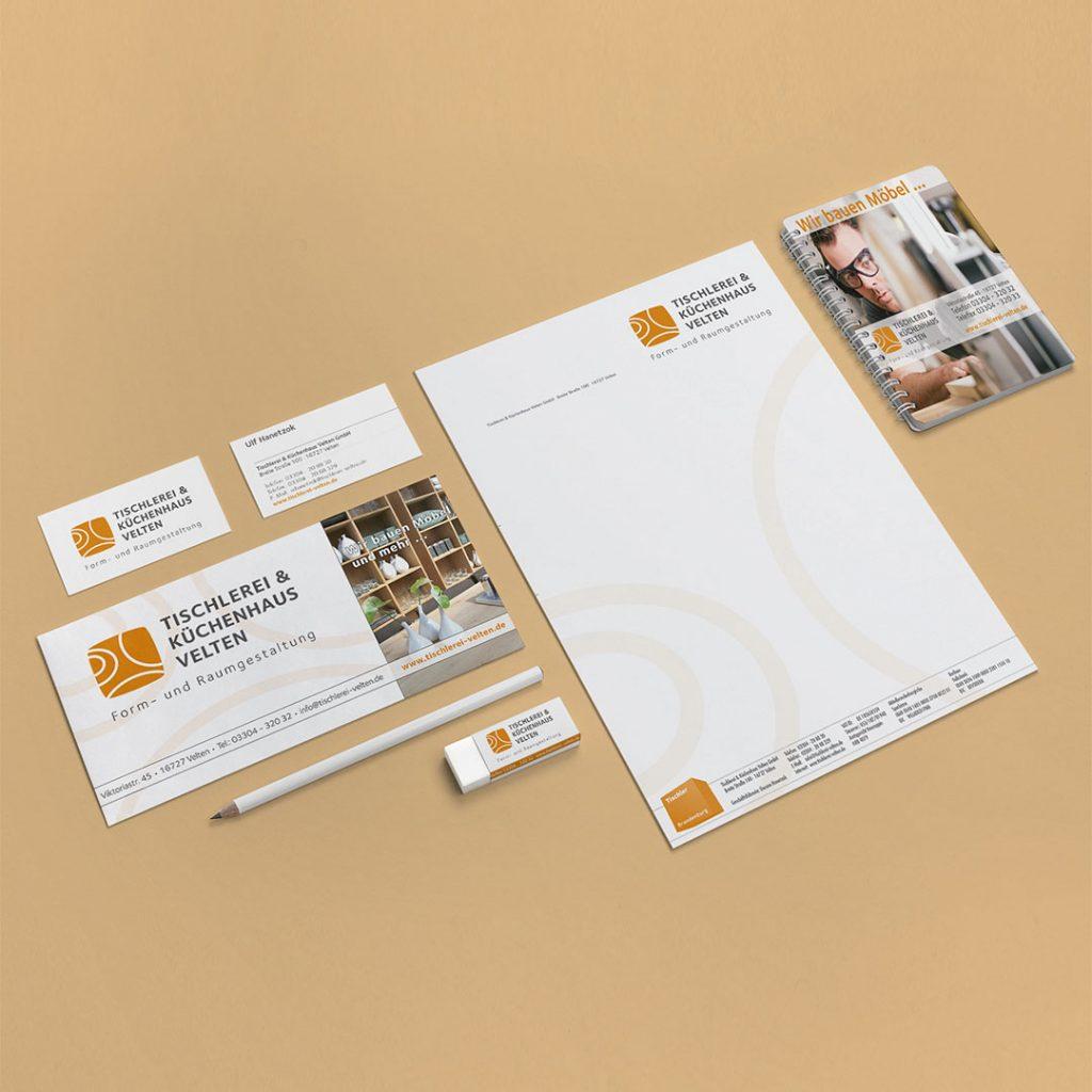 Tischlerei Velten Corporate Design und Geschäftsausstattung