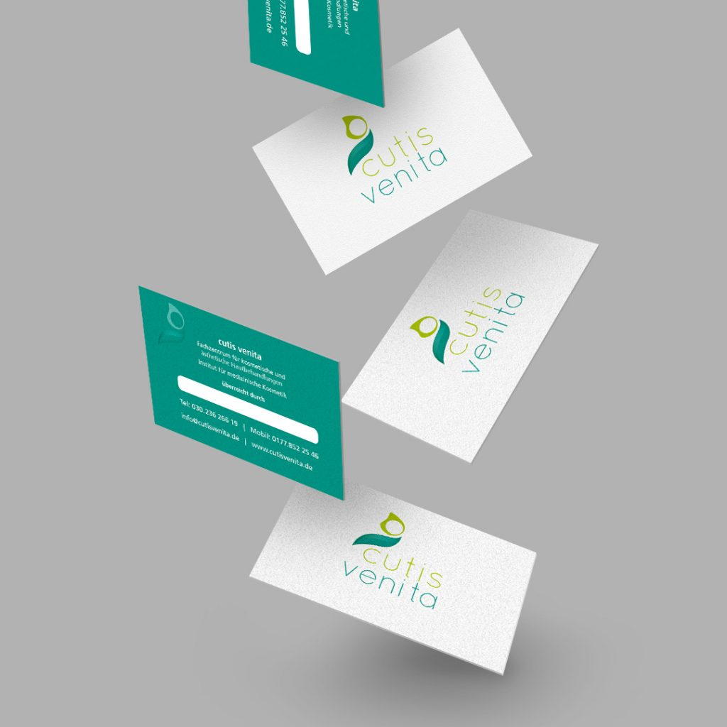 cutis venita Corporate Design Visitenkarten