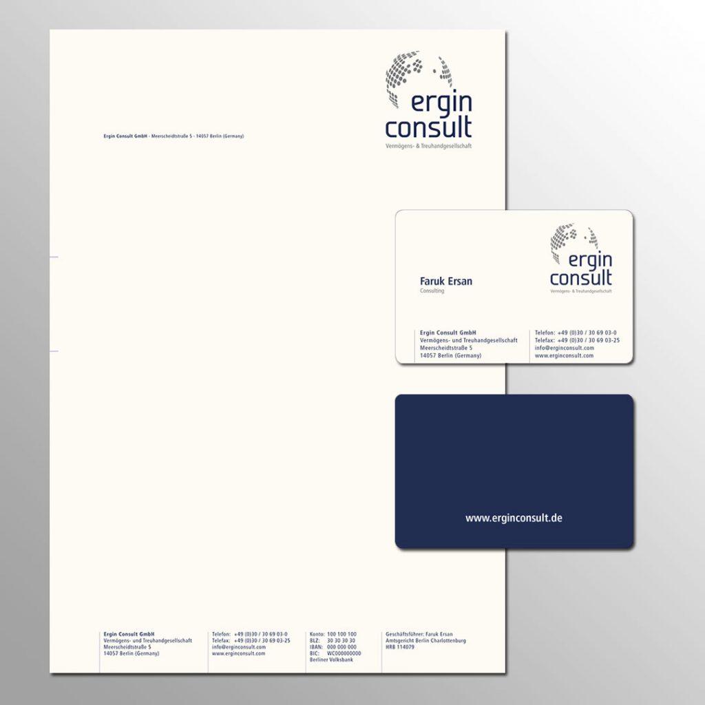 ergin consult Corporate Design und Geschäftsausstattung
