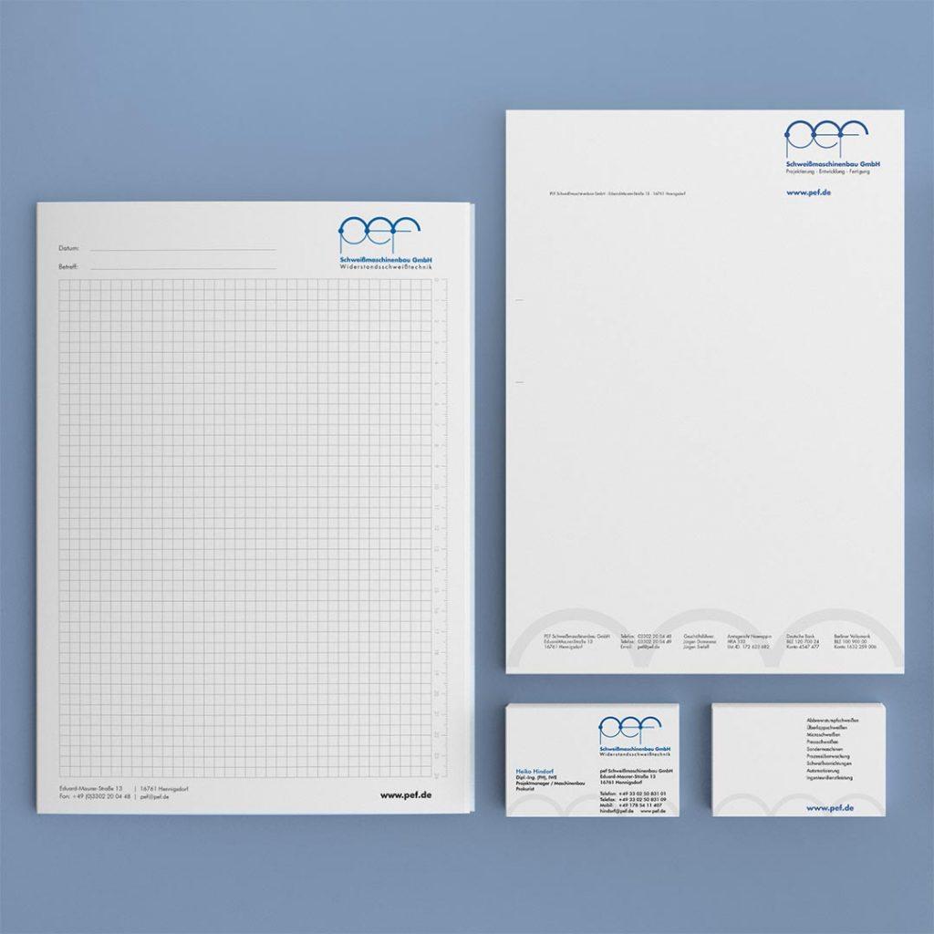 pef Corporate Design und Geschäftsausstattung